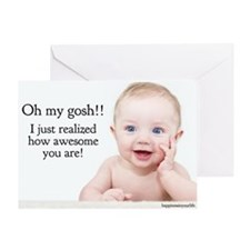 awesome baby 57 Greeting Cards