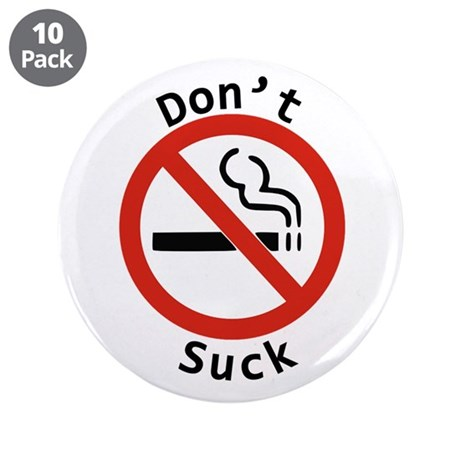 "No Smoking 3.5"" Button (10 pack)"