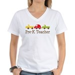 Pre-K Teacher Toys Women's V-Neck T-Shirt