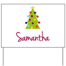 Christmas Tree Samantha Yard Sign