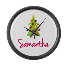 Christmas Tree Samantha Large Wall Clock