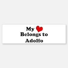 My Heart: Adolfo Bumper Bumper Bumper Sticker