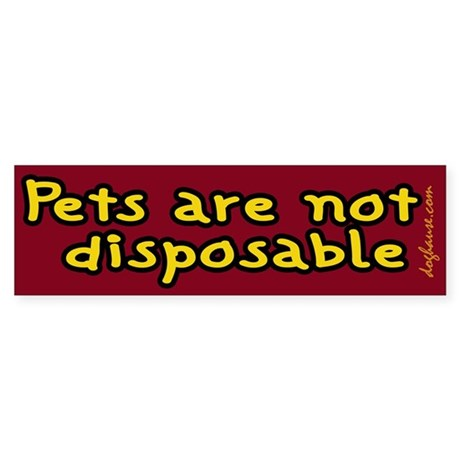 Not Disposable Red Bumper Sticker
