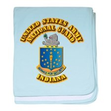 Army National Guard - Indiana baby blanket