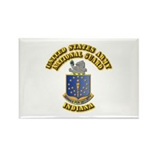 Army National Guard - Indiana Rectangle Magnet (10