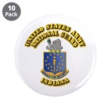 "Army National Guard - Indiana 3.5"" Button (10 pack"