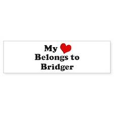 My Heart: Bridger Bumper Bumper Sticker
