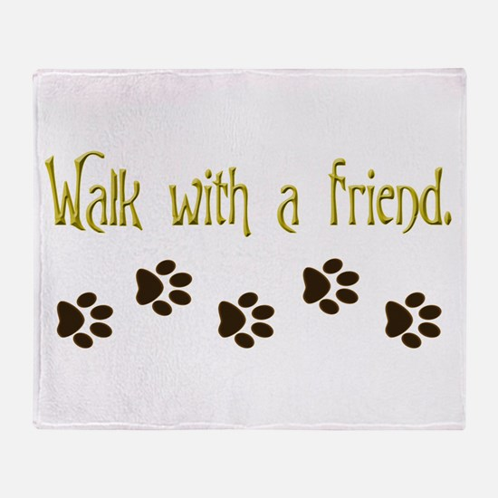 Walk With a Friend Throw Blanket