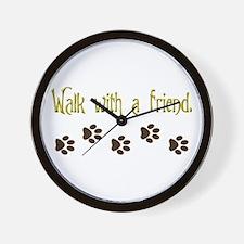 Walk With a Friend Wall Clock