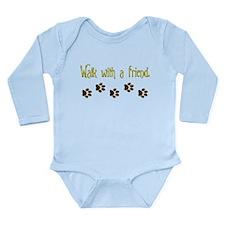 Walk With a Friend Long Sleeve Infant Bodysuit