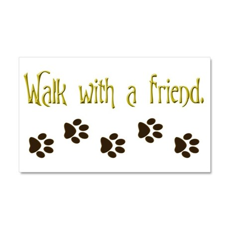 Walk With a Friend Car Magnet 20 x 12