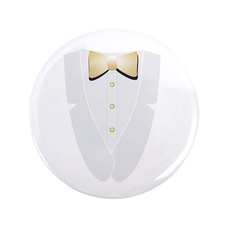 "White Tie and Tails 3.5"" Button"
