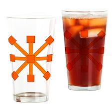 Orange Jacks Drinking Glass