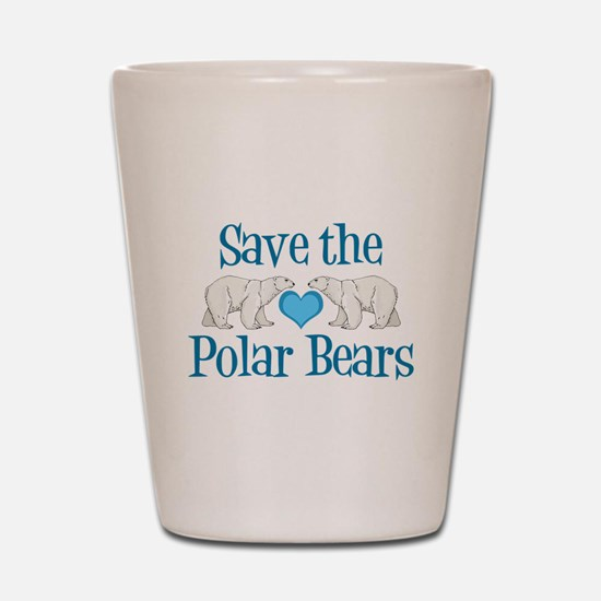 Save the Polar Bears Shot Glass