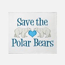 Save the Polar Bears Throw Blanket