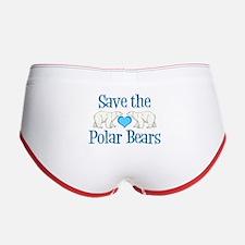 Save the Polar Bears Women's Boy Brief