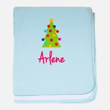 Christmas Tree Arlene baby blanket
