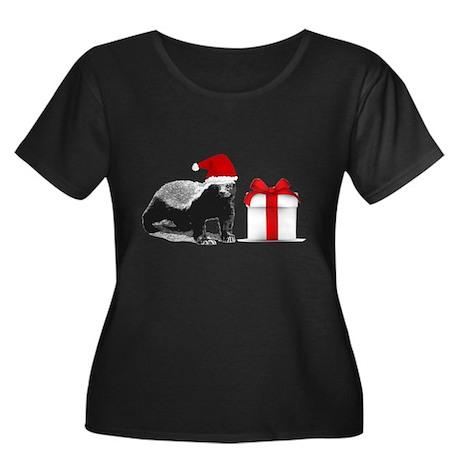 honey badget santa Women's Plus Size Scoop Neck Da