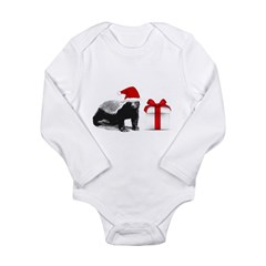 honey badget santa Long Sleeve Infant Bodysuit