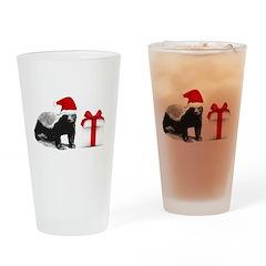 honey badget santa Drinking Glass