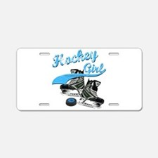 Funny Girls hockey Aluminum License Plate