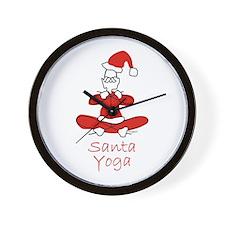 Yoga Glee Santa Wall Clock