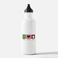 Peace Love Santa Water Bottle
