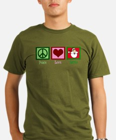 Peace Love Santa T-Shirt