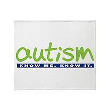 Autism - Know Me. Know It. Throw Blanket