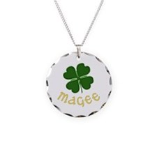 Irish Magee Necklace Circle Charm