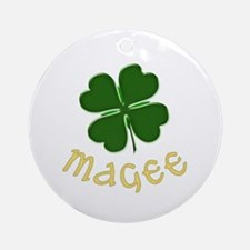 Irish Magee Ornament (Round)
