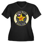 DHRC Women's Plus Size V-Neck Dark T-Shirt