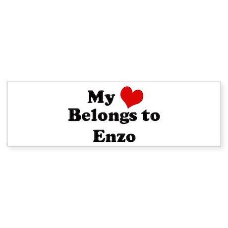 My Heart: Enzo Bumper Sticker