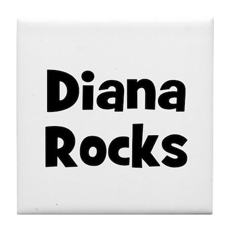 Diana Rocks Tile Coaster