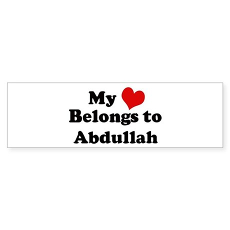 My Heart: Abdullah Bumper Sticker