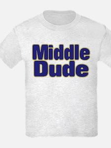 MIDDLE DUDE (dark blue) T-Shirt