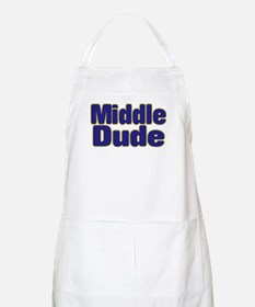 MIDDLE DUDE (dark blue) Apron