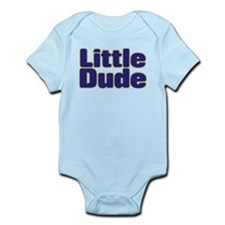 LITTLE DUDE (dark blue) Infant Bodysuit
