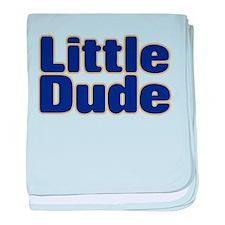 LITTLE DUDE (dark blue) baby blanket