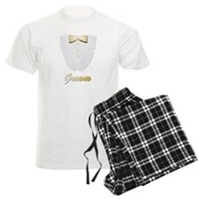 Gold Tie and Groom Pajamas