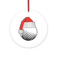 CHRISTMAS GOLF BALL Ornament (Round)