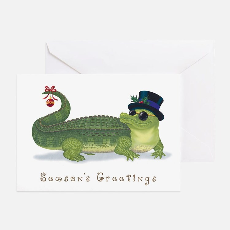 Christmas Alligator Greeting Cards (Pk of 20)