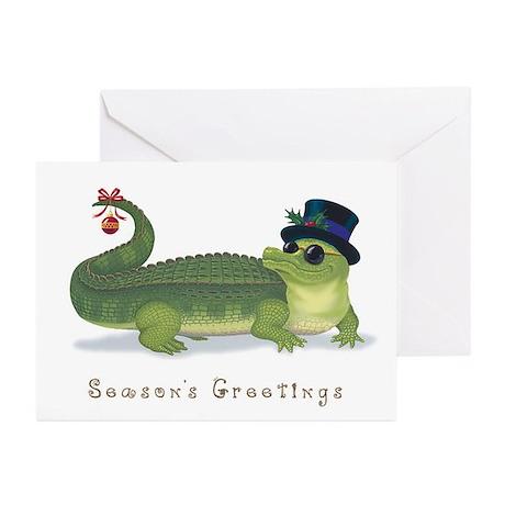 Christmas Alligator Greeting Cards (Pk of 10)