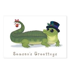 Christmas Alligator Postcards (Package of 8)