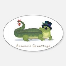 Christmas Alligator Decal