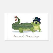 Christmas Alligator Car Magnet 20 x 12