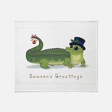 Christmas Alligator Throw Blanket