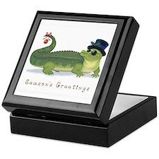 Christmas Alligator Keepsake Box