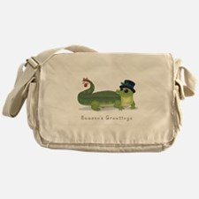 Christmas Alligator Messenger Bag