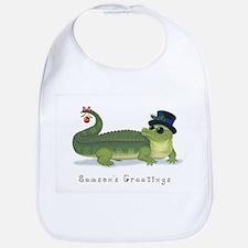 Christmas Alligator Bib